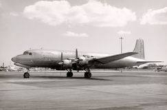 Old turboprop airplane Stock Photos