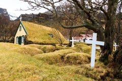 Old turf church Iceland Royalty Free Stock Image