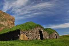 Old turf covered house, Iceland Stock Photo