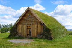 An old turf house in Skalholt, Iceland Stock Photo
