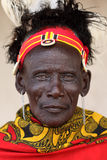 Old Turkana man in Loyangalani, Kenya. Royalty Free Stock Photos