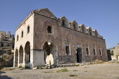 Old Turkish church ruins Stock Images