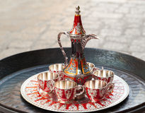 Old Turkish coffee service Stock Photos