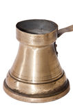 Old Turkish copper pot for brewing coffee Stock Images