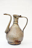 Old turkish copper water jug. Picture of a Old copper water jug Stock Photo