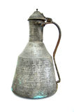 Old turkish copper water jug. Picture of a Old copper water jug Royalty Free Stock Photography