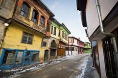 Old Turkish Houses in Eskisehir Royalty Free Stock Image