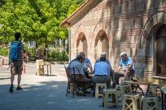 Old Turkish men in Iznik Stock Photos