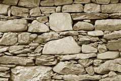 Old Turkish stone wall Royalty Free Stock Photo