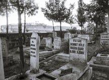Old Turkish tomb yard Royalty Free Stock Photos