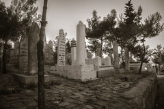Old Turkish tomb yard Royalty Free Stock Images