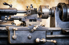 Old turning lathe Royalty Free Stock Photography