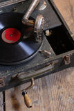 Old turntable Stock Image