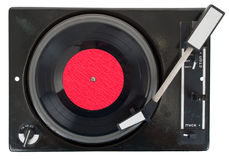 Old turntable with vinyl record Royalty Free Stock Image