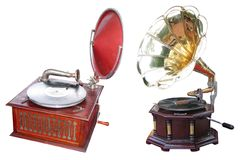 Old turntables Stock Images