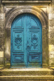 Old turquoise metal gate Stock Image