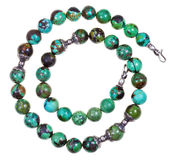 Turquoise women necklace Stock Photography