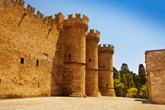 Old turrets of the Grand Master Palace, Rhodes. Island, Greece Royalty Free Stock Photos