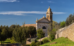 Old Tuscan church. Old Tuscan Catholic Church in Italy Royalty Free Stock Images
