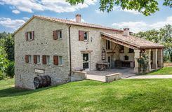 Old typical Tuscan farmhouse in Italy. Old Tuscan farmhouse in Italy royalty free stock photos