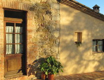 Old tuscan house - detail Royalty Free Stock Images