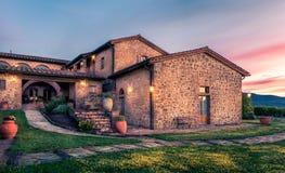 Old tuscan manor Royalty Free Stock Image