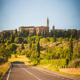 Old Tuscan town on the hills, Italy Royalty Free Stock Image