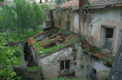 Old Tuscan Villa. Old dilapidated Tuscan villa royalty free stock photography