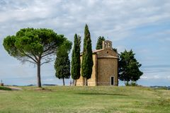 Old Tuscany church. Old church in Tuscany, Italy Stock Image