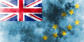 Old Tuvalu grunge background flag.  Stock Images