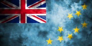 Old Tuvalu grunge background flag.  Stock Photography