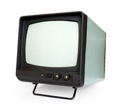 Old tv. Isolated on white Royalty Free Stock Images