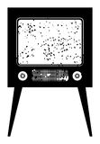 Old tv. BW  illustration Royalty Free Stock Image