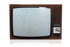 Old TV. Shot of old TV isolated on white background with soft shadow royalty free stock image