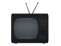 Old TV. Set on a white background Royalty Free Stock Images