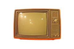 Old tv. In isolated background Royalty Free Stock Photo