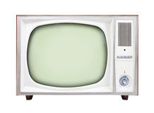 Old TV. An old TV isolated on white background Royalty Free Stock Photography
