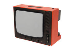 Old tv. Old retro TV set. 70s style royalty free stock photo