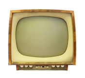 Old tv. An old tv with black and white screen Royalty Free Stock Photos