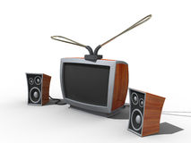 Old tv. Stock Image