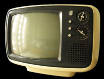 Old TV. Old Television isolated on black Royalty Free Stock Photo