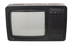 Old TV. Old analogue TV receiver made in seventies Stock Images