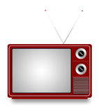 Old TV. On white background,  illustration Royalty Free Stock Photography