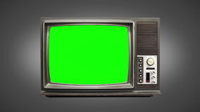 Old tv 03. Animated old television with bad frequency stock video