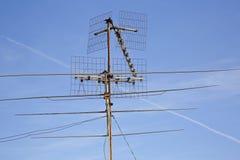 Old TV antenna Royalty Free Stock Photos