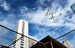 Old tv antenna Stock Photography