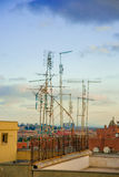 Old tv antennas Stock Images