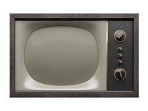 Old TV. Front view Stock Images