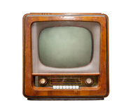 Old TV, front view Royalty Free Stock Image