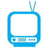 Old tv icon Royalty Free Stock Photography